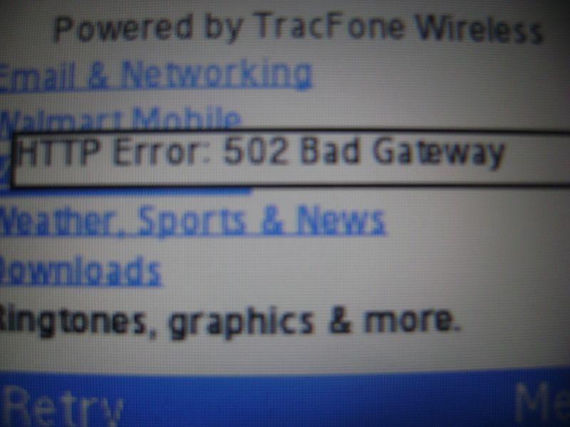 Samsung R355C 502 Bad Gateway