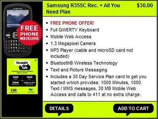 Straight Talk Refurbished Samsung R355