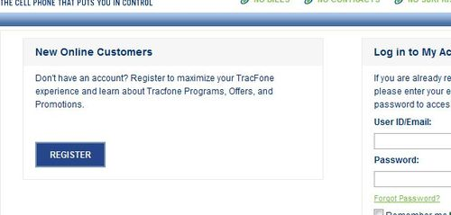 TracFone Register Account