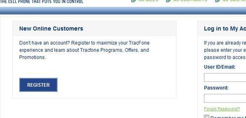 TracFone Register Account