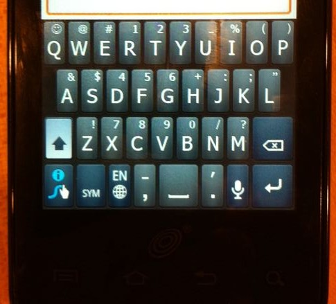 Straight Talk Samsung Galaxy keyboard