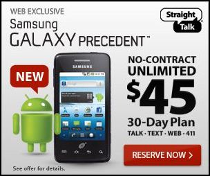 Straight Talk Samsung Galaxy Precedent