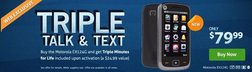 TracFone Triple Talk and Text Motorola EX124G