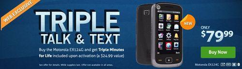TracFone Triple Talk and Text Motorola EX124G