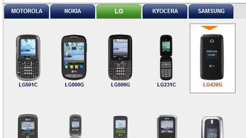 TracFone Phone Models